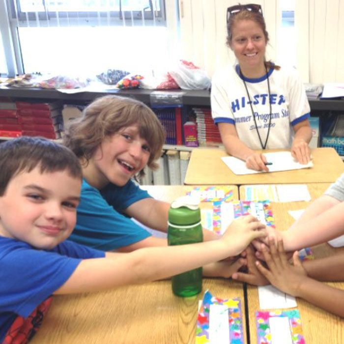 A group of our HI-STEP® children participating in our social skills summer program.